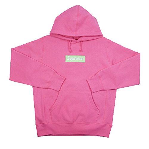 SUPREME シュプリーム 17AW Box Logo Hooded Sweatshirt BOXロゴパーカー ピンク M 並行輸入品 B0782QQ449