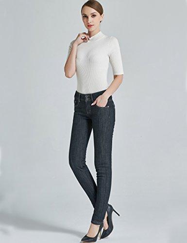 jeans Camii da Mia 827 pile donna 7 Schwarz in fit foderati slim FZ4SwqU5