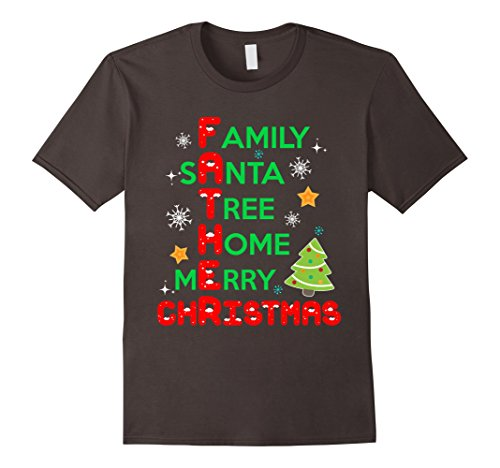 [Mens Funny Shirt For Father. Christmas Costume From Daughter/Son. Small Asphalt] (Son And Father Costumes)