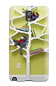For ZippyDoritEduard Galaxy Protective Case, High Quality For Galaxy Note 3 Whimsical Tree Bookcase In Contemporary Nursery Skin Case Cover
