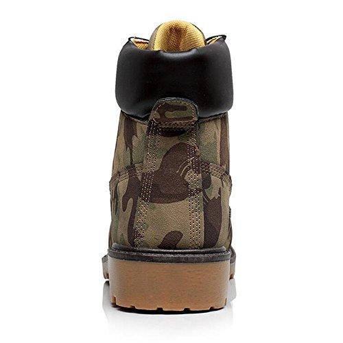 Ying Lan Heren Jongen Winter Warm Casual Schoenen Vintage Antislip Bont Gevoerd Korte Outdoor Martin Enkellaarzen Camouflage