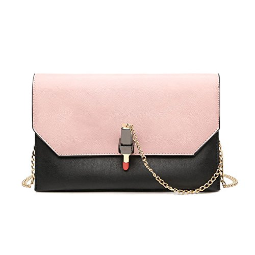 Portable Bag Shoulder Bag Hit Suitable For Messenger Simple Chain Pink Strap Pillow Everyday Asdflina Retro Lock Use Color Pu dZOdnP