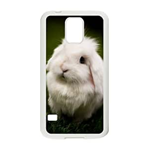 YNACASE(TM) Rabbit DIY Cover Hard Back Cover Case for SamSung Galaxy S5 I9600,Personalized Phone Case with Rabbit