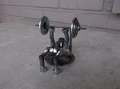 Figurine Weight (Weight Lifter Metal Bolt Figurine)