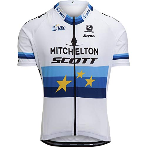 Giordana Vero Pro Mitchelton EU Champ White Jersey - Men's Mitchelton Scott Pro Team, -