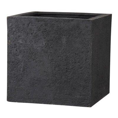 リガンデ キューブ 60 cm/軽量/植木 鉢 プランター 【 ブラック 】 B01CQOKWMI ブラック ブラック