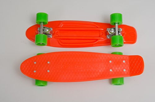 Moboard Graphic Complete Skateboard | Pro / Beginner | 22 Inch Vintage Style With Interchangeable Wheels |