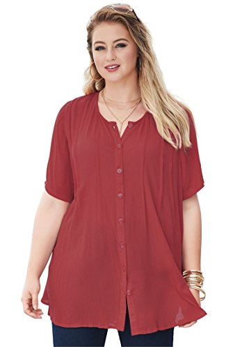 Roamans Womens Plus Size Angelina Tunic