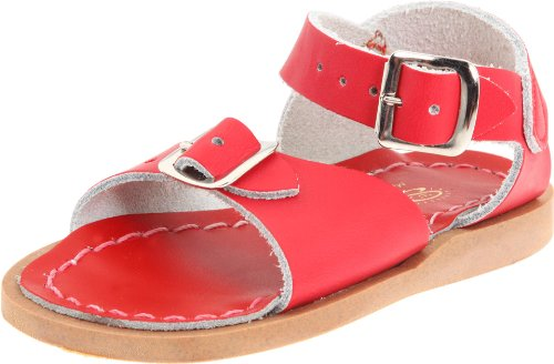 Salt Water Sandals by Hoy Shoe Surfer,Red,7 M US Toddler