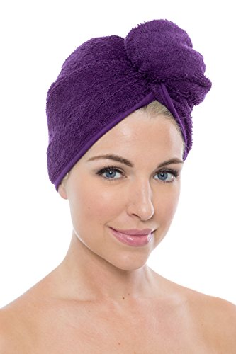 Texere Women's Bamboo Viscose Hair Towel (Tya, Purple, U) Shower Head Wrap