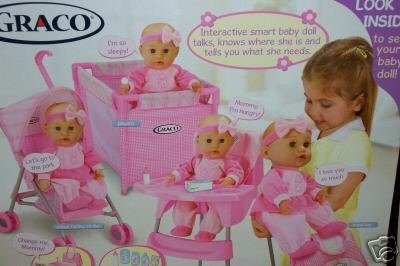 Amazon.com: Graco Nursery Playset With Interactive Smart Baby Doll: Toys U0026  Games