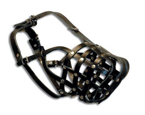 Leerburg 1058 3 Black Leather Muzz product image