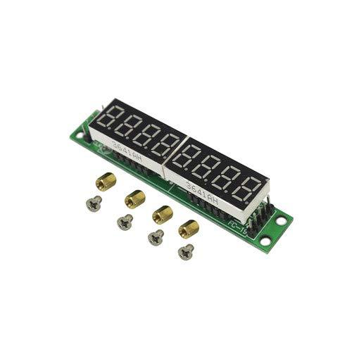 MAX7219 LED Dot Matrix 8 Digit Digital Tube Display Control Module 3.3V 5V Microcontroller Serial Driver 7-Segment Green