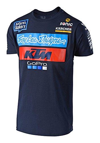 Lee T-shirt Hat - Troy Lee Designs 2018 KTM Team T-Shirt-Navy-M