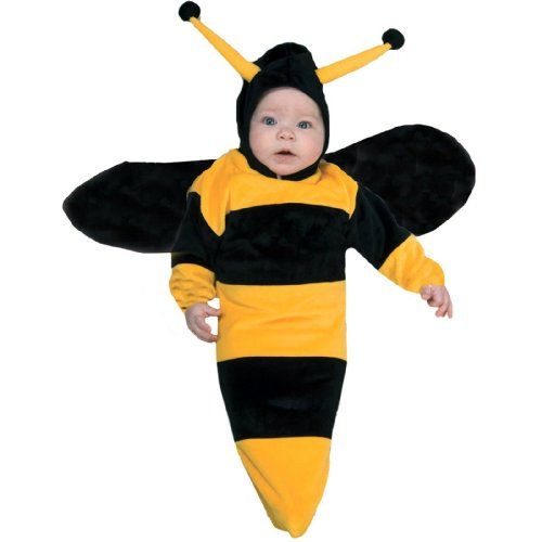 [Rubie's Costume Deluxe Baby Bunting, Bumble Bee Costume, 1 to 9 Months] (Bee Toddler Costumes)