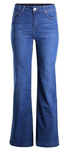 Ladies' Code Straight Mid Rise Wide Leg Denim Jeans Medium 7 Size -