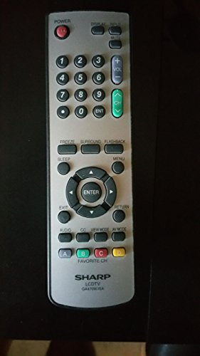 New Sharp LCD TV Remote Control GA470WJSA 076B0MQ010 Supplied with models LC-37SH20 LC-37SH20U LC-26SH10 LC-26SH20 LC-32SH10 LC-32SH20