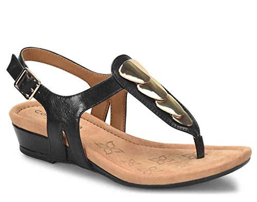 Comfortiva Women's, Summit Low Heel Sandal Black 9 M