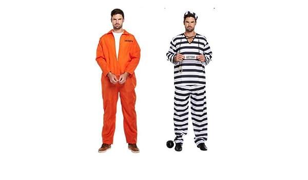hombre naranja Preso Ladrona Disfraz PRISIÓN BREAK Disfraz: Amazon ...