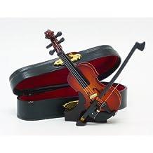 With decoration gorgeous case! Miniature violin small 9cm š