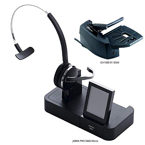 Jabra PRO 9460 Mono Flex Boom Wireless Headset with GN1000 Remote Handset Lifter for Deskphone, Softphone & Mobile Phone ()