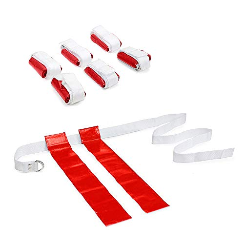 (GOGO 6 PCS Flag Football Set with Belt-Red-2 Flags)