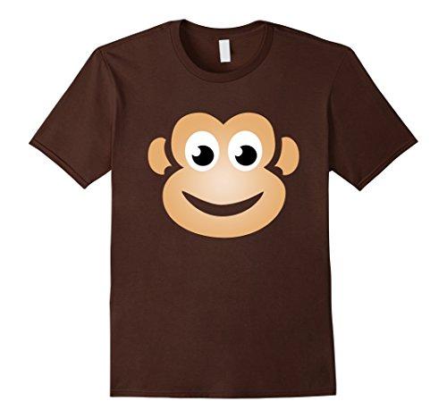 Mens Monkey Halloween Costume Shirt Funny Cute Gift Idea 2XL Brown