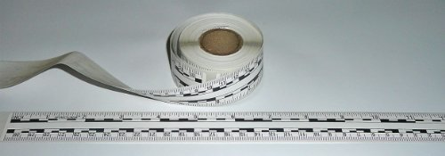 (Ruler – Adhesive Backed Decal on a Roll – Fractional/Metric – 12 Inch (30 Centimeter) Long – Left to Right – 50 per Roll – White)