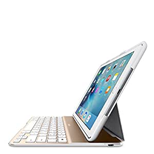 belkin qode ultimate lite keyboard case for ipad air 2 white gold computers. Black Bedroom Furniture Sets. Home Design Ideas
