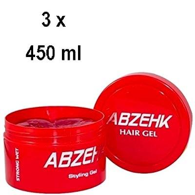 3x abzehk pelo Cera–Rojo Strong Wet–para todos los tipos de cabello–450ml