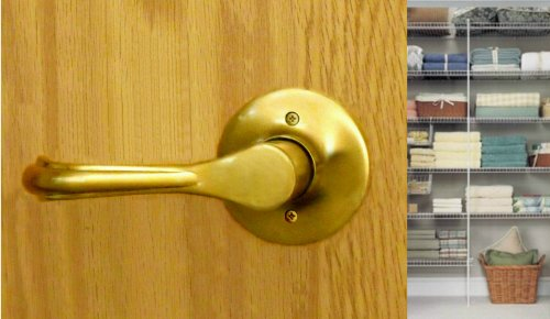Eiffel Half Dummy Lever by FPL Door Locks for Closet and Inactive Doors in Polished Brass Finish
