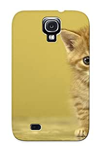 Premium Protection Animal Cat Case Cover With Design For Galaxy S4- Retail Packaging
