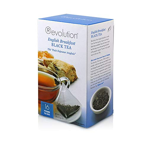 Revolution Tea Black Tea, English Breakfast, 16 Count (Pack of 6)