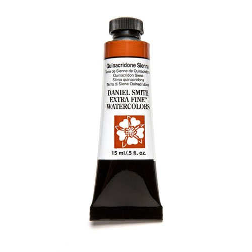 Watercolor Sienna - DANIEL SMITH 284600093 Extra Fine Watercolor 15ml Paint Tube, Quinacridone, Sienna