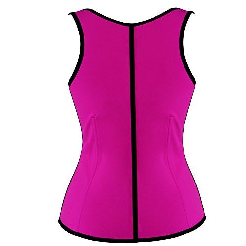 Grebrafan De la Mujer Classic Boned Estirada 3 Niveles de Ajustable Ganchos Látex Corset Rosa