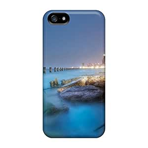 Iphone 5/5s Case Slim [ultra Fit] Blur Hdr Beach Protective Case Cover