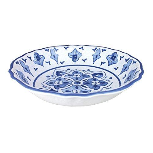 Le Cadeaux Moroccan Blue Melamine 13.75