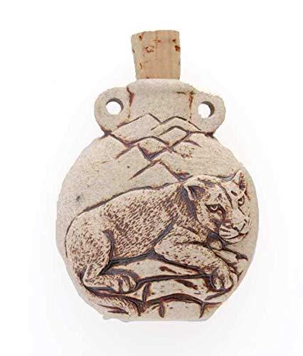 Cougars Bottle - High Fired Cougar Bottle or Vessel