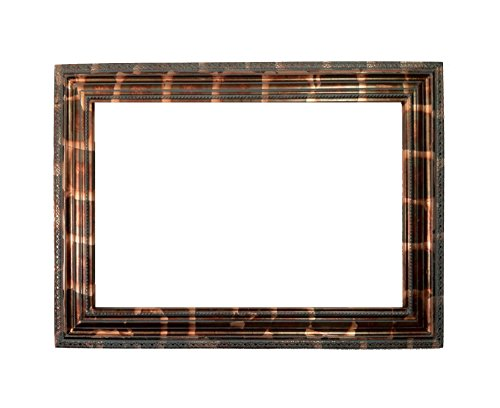 24x36 Decorative Frame in Gold Leaf with Dark Bronze Color in High Density Polyurethane and Painted By Hand for Paintings Pictures or Mirrors by Fancydecor