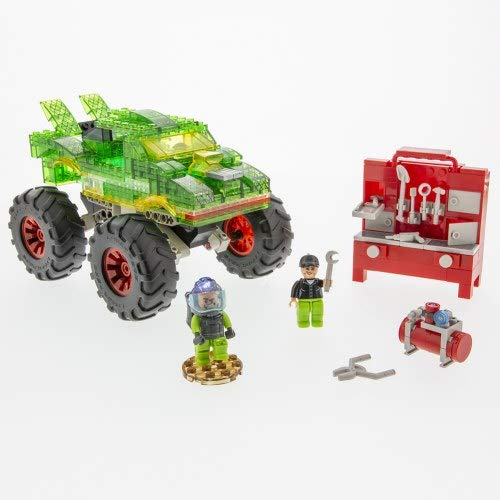 Laser Pegs Green Monster Light-Up Building Blocks Playset (290 Piece) The First Lighted Construction Toy to Ignite Your Childs Creativity; Its Your Imagination, Light It Up