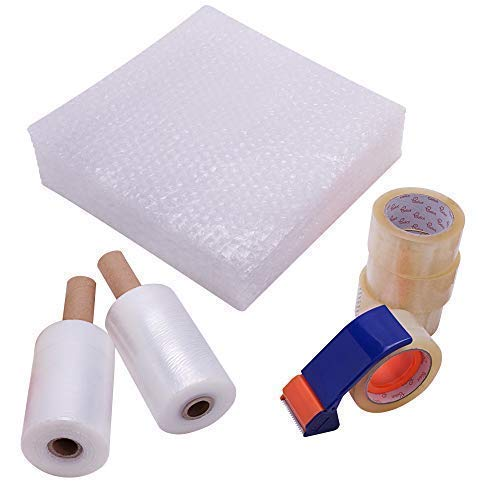 Stretch Wrap Moving Supplies Kit | by Beliot | Pallet Shrink Wrap Film | 2 Mini Stretch Wrap Rolls with Handle-6