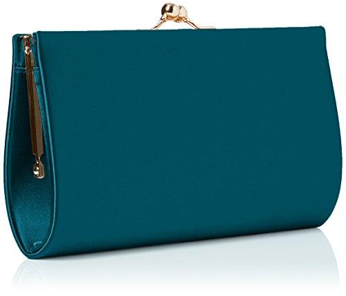 Womens Clutch Classic SwankySwans Teal Satin Frame Green Bag Mira HqxwF