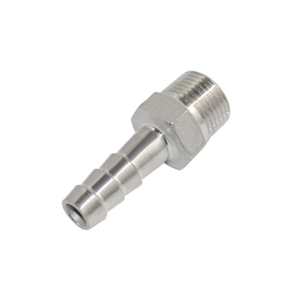 1//4/'/'x12mm Xiaoping Ma Raccord de tuyau /à filetage m/âle x Adaptateur de connecteur de queue de tuyau de raccord en acier inoxydable BSPT