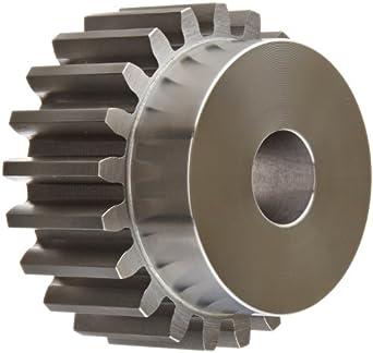 Boston Gear Spur Gear, 14.5 Pressure Angle, Steel, Inch, 6 Pitch