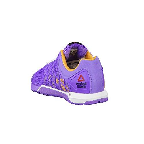 Reebok Crossfit Nano 4.0 - Zapatos de interior multideporte para mujer, color lush orchid/sunset orange/white, talla 37