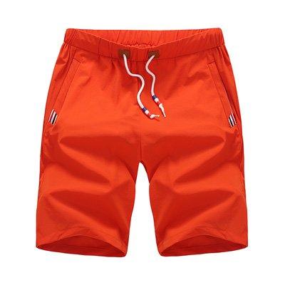 WDDGPZDK Strand Shorts/Qualität Sommer Style Shorts Men Baumwolle  Herren Shorts Blau Lässige Shorts Tide Männlichen Baumwolle Leinen Beach Shorts