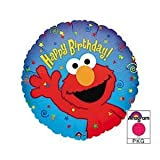 ": Anagram International Elmo Birthday Foil Balloon Pack, 18"", Multicolor"
