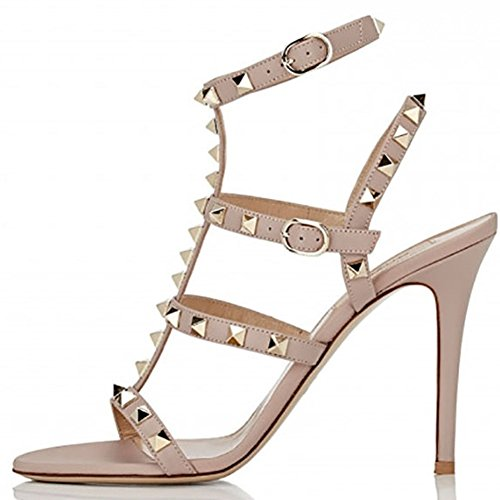 Heeled Sandals For Women,Strappy Gladiator Shoes Slingback Stiletto Heels Dress Party Wedding Sandals