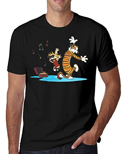 shirt Dancing Music And Noir Hobbes Hommes T Shutup With Calvin q8gtwv