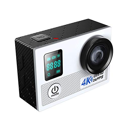 bxbxyy Waterproof Sports Camera, 160° Large Wide-Angle Lens, 4k Hd Video, Bring WiFi, 1080p Hd Resolution, Shockproof Stability, Power Saving,Sports Camera